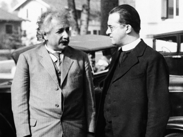 Einstein Father Lemaitre Big Bang Theory Physics